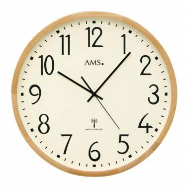 GRANDE HORLOGE EN BOIS RADIO PILOTEE AMS - 5534