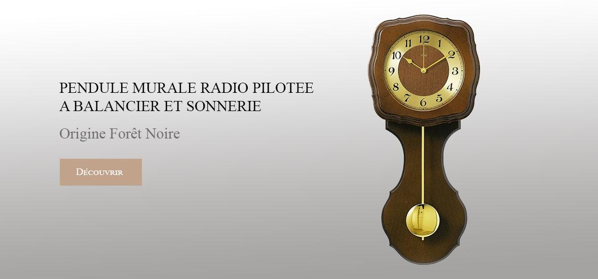 Pendules Bois Radio-pilotée 5162