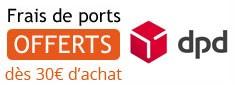 frais de port offerts à partir de 30 euros